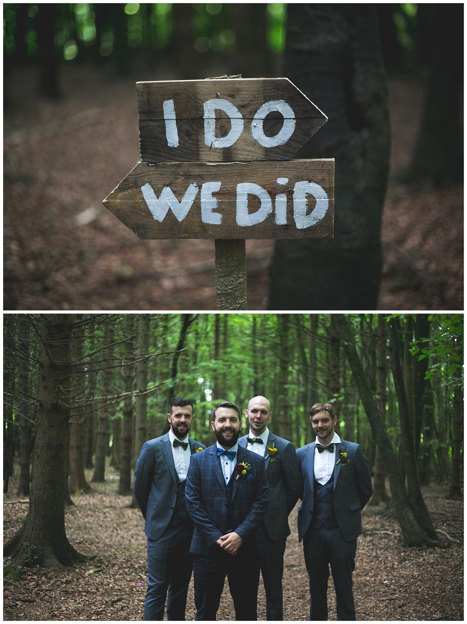 I DO WE DID wedding sign idea