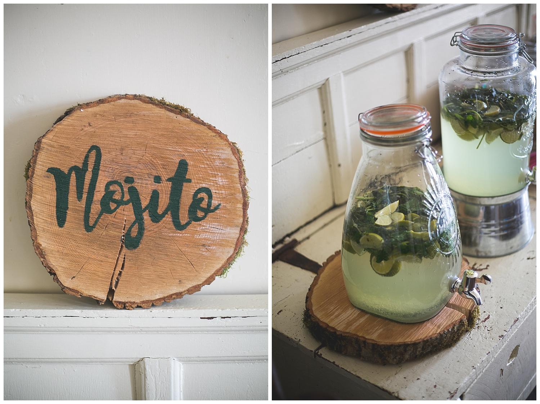 Mojito Sign and Kilner Jar cocktail server