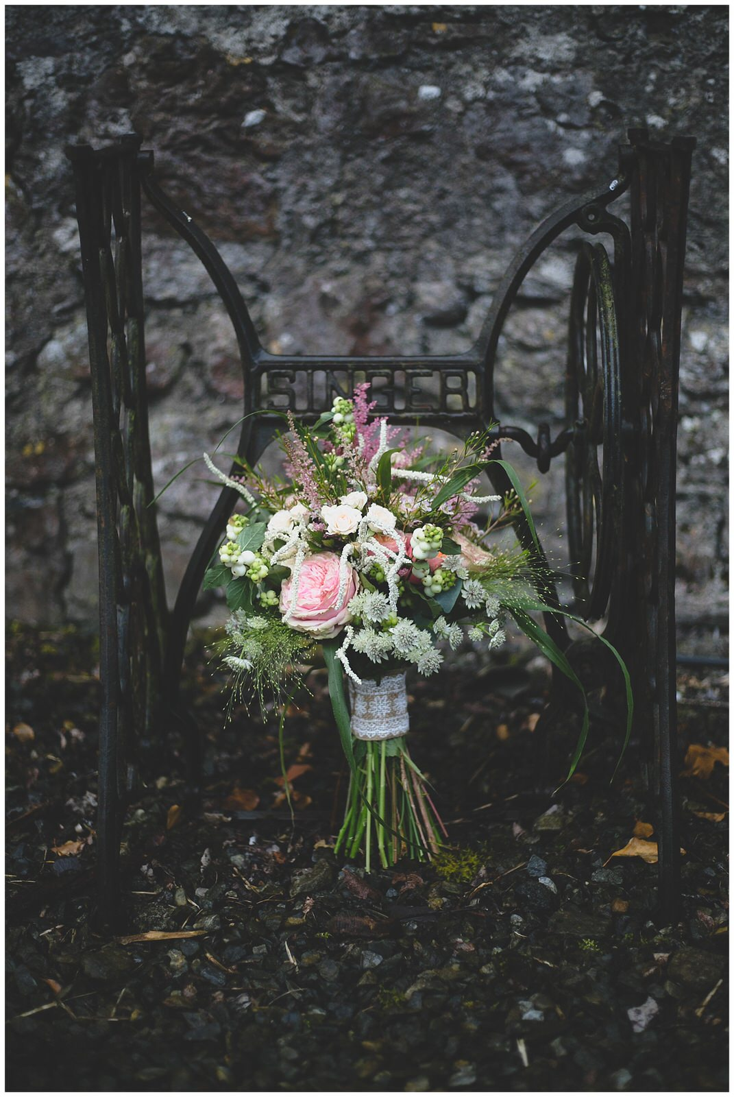 Beautiful bouquets with pink and greens