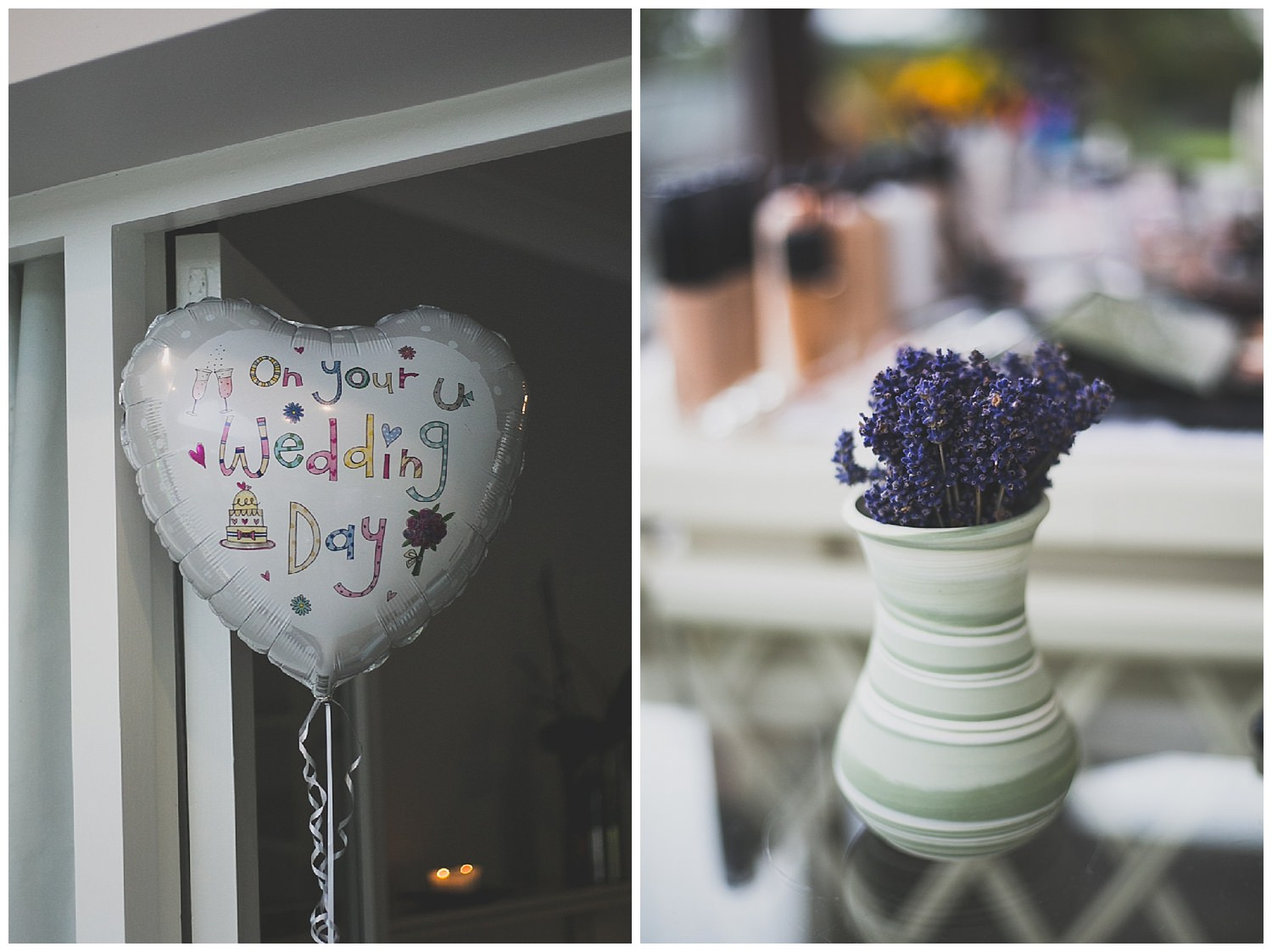 On your wedding day helium balloon