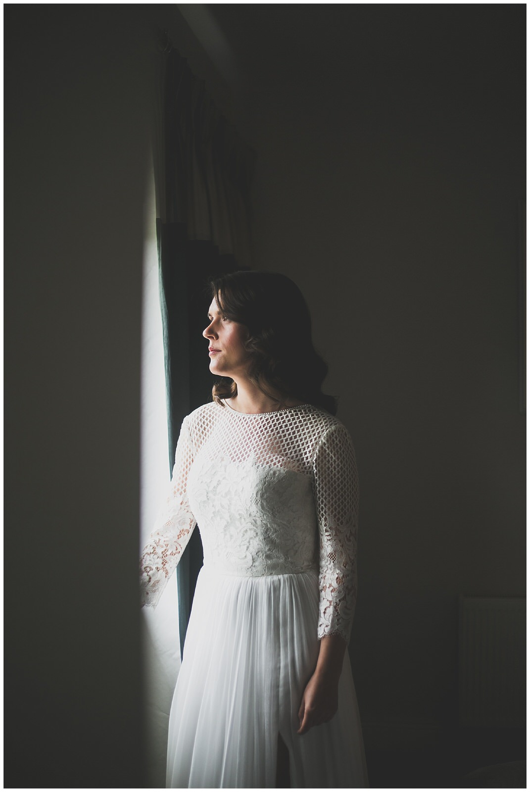 Natural light window portrait by Wild Things Wed Photography