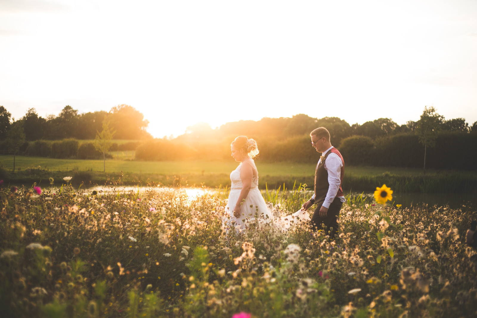 Sunset golden hour photos at the House Meadow UK
