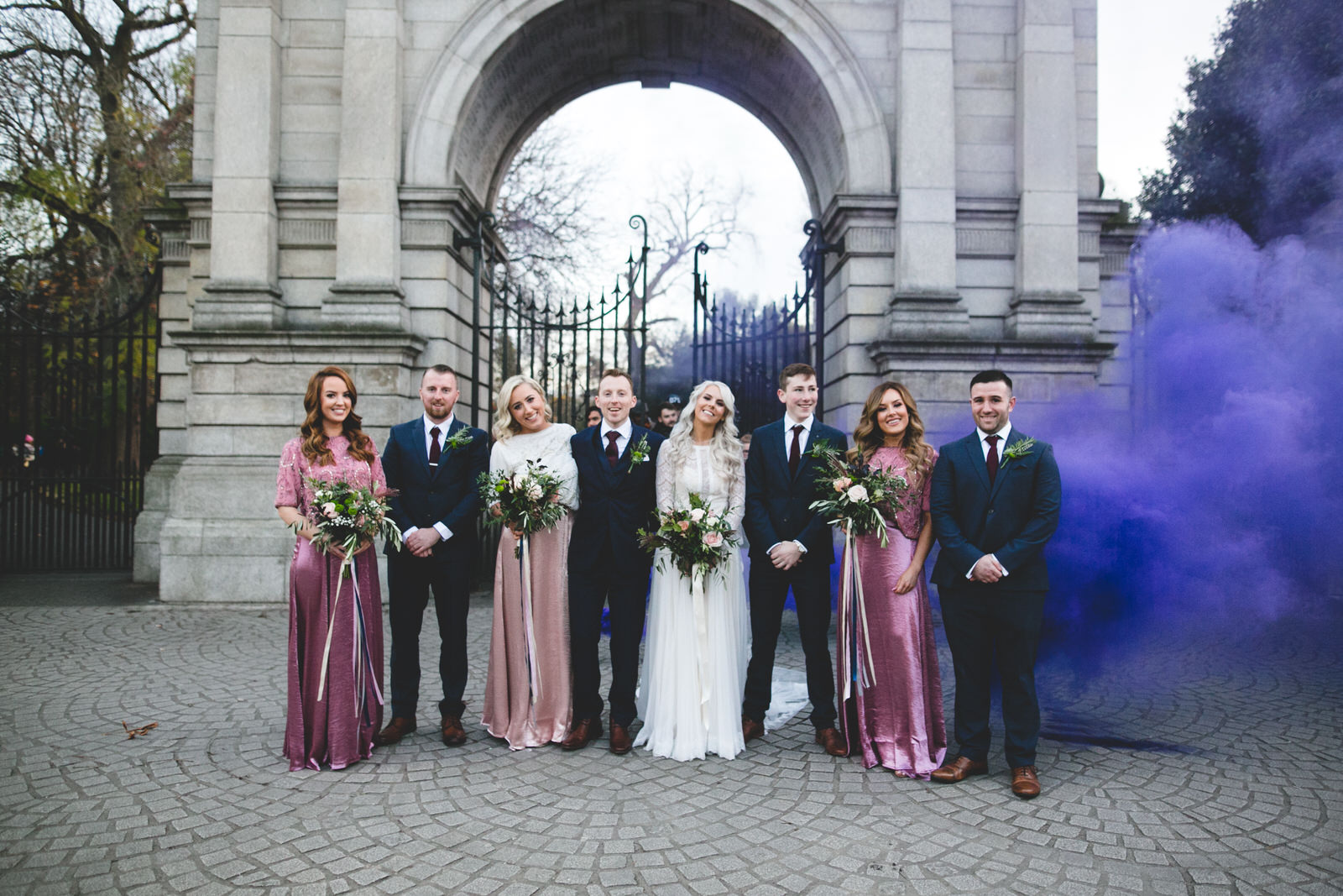 Dublin Wedding Photographer Wild Things Wed - Purple smoke bomb