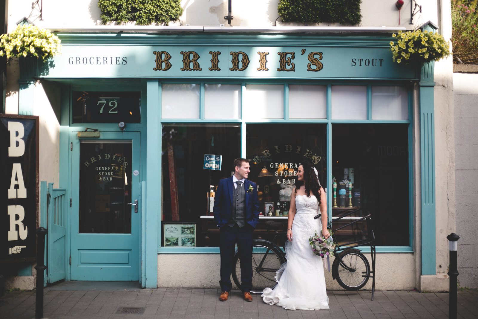 Bridie's grocery shop Kilkenny wedding portraits