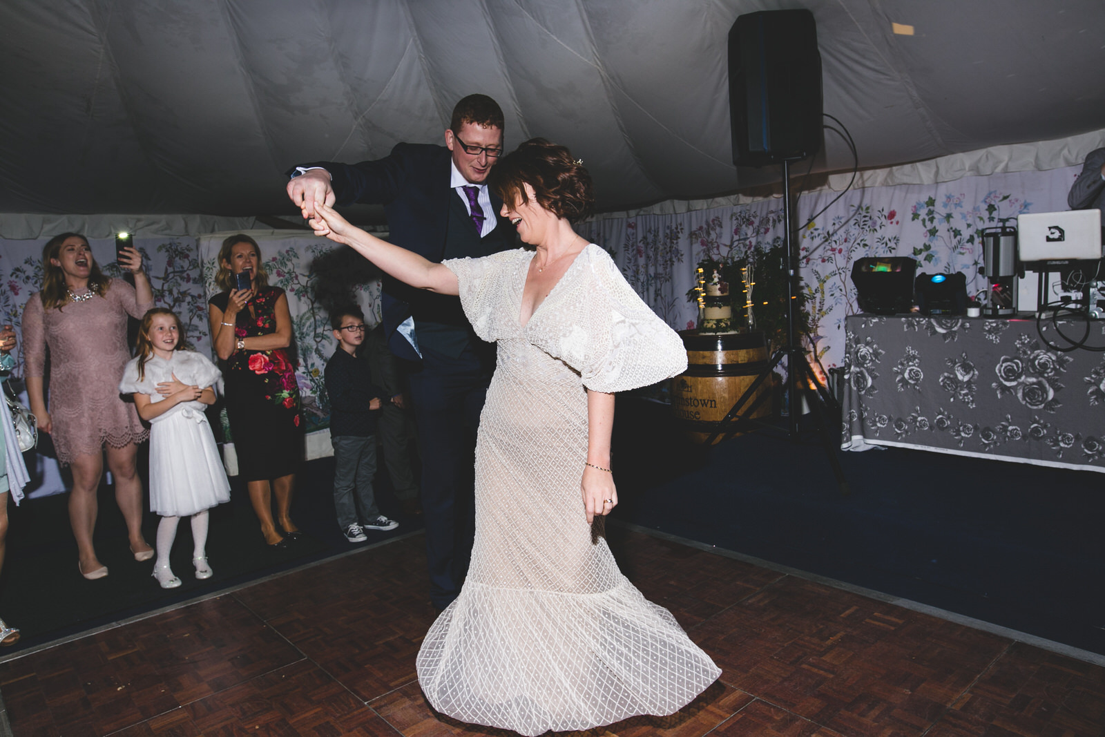 Twirls during the first dance