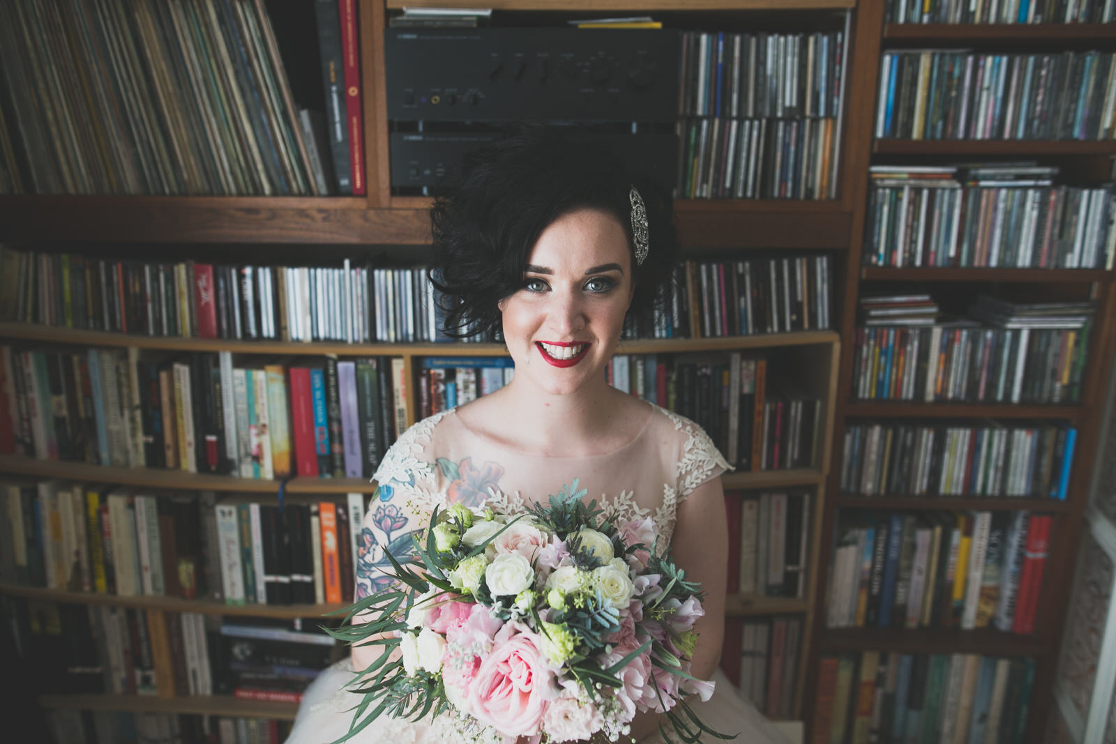 alternative bride shot by Wild Things Wed