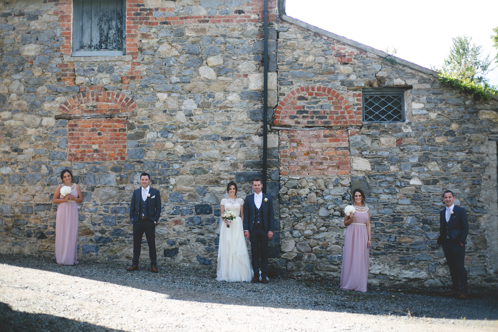 Bridal party at Ballymascanlon Hotel wedding venue