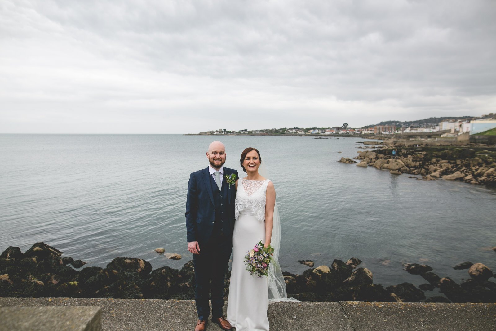 Dun Laoighre Pier - Haddington Hotel wedding