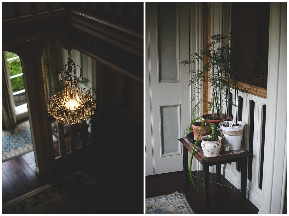 Interior light fitting & plant pots