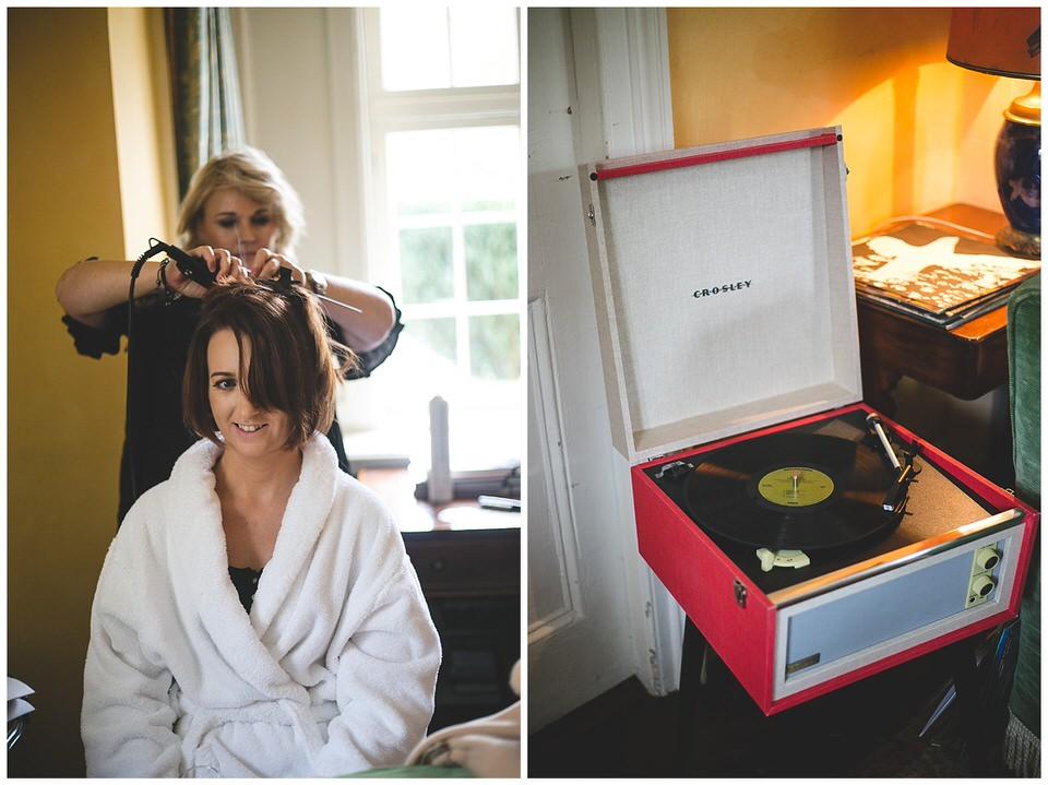 Red Vinyl record player
