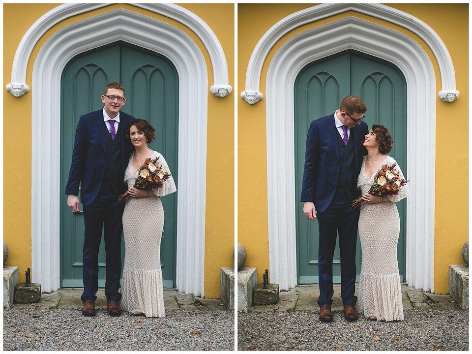 Yellow wedding venue in Kildare the Curragh