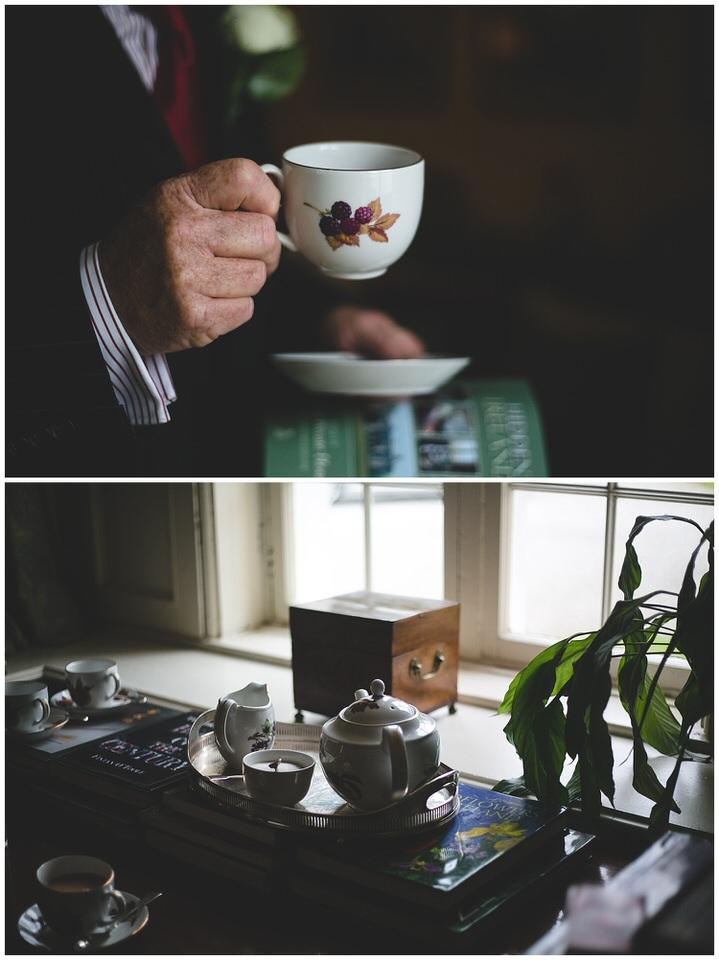 Vintage tea pot and cup set