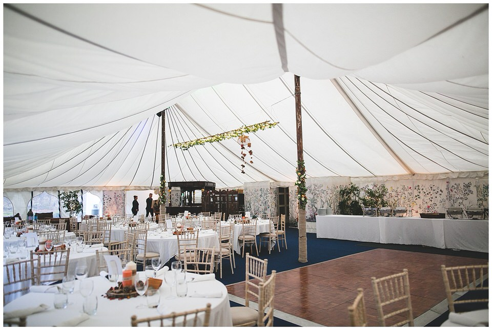 Dining room gazebo tent at martinstown house