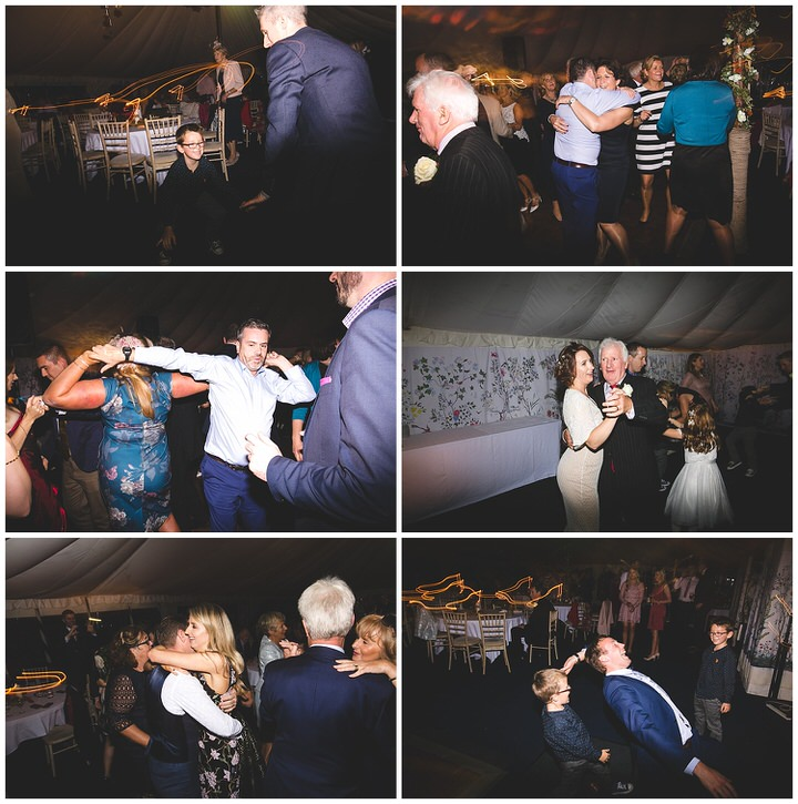 Night time dancing photographs at a wedding