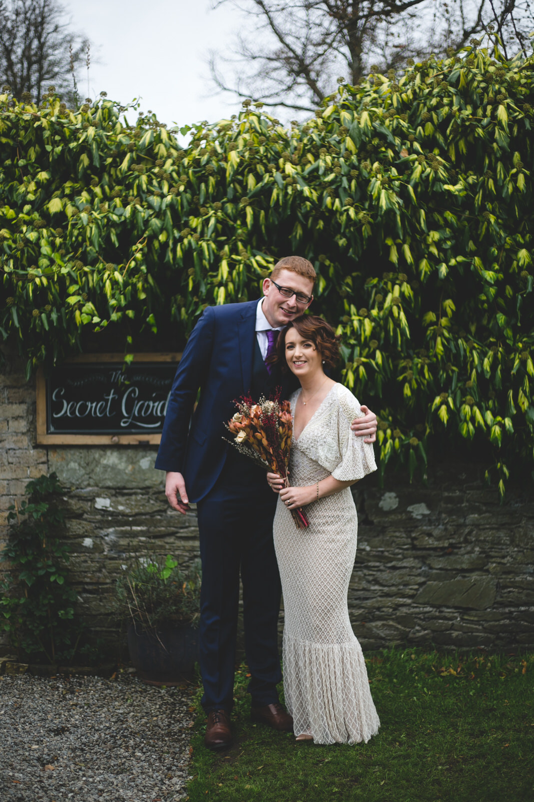 Portrait of an Irish bride and groom