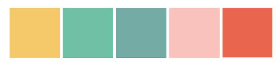 Wes Anderson pastel colour palette