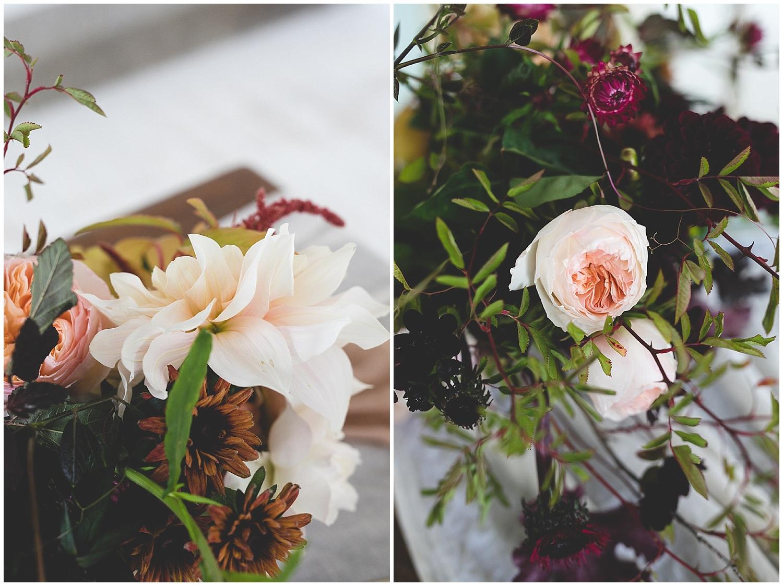 delicate & wild pale pink bouquet details