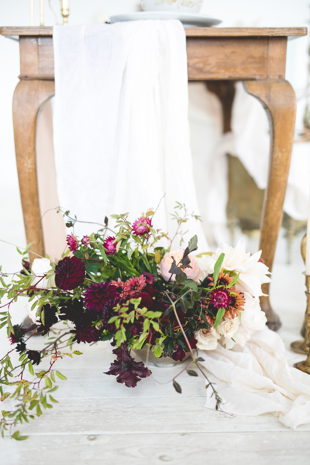 Styled wedding flowers shot by Wild things wed