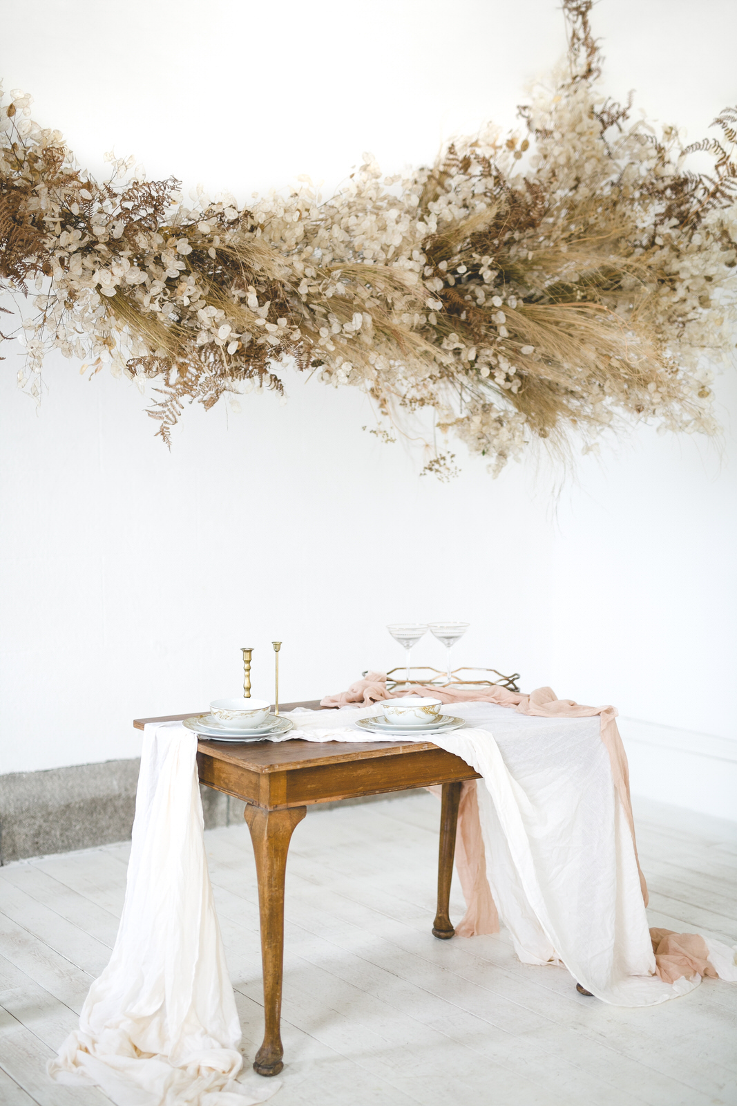 Dreamy Floral Cloud Installation at Horetown House