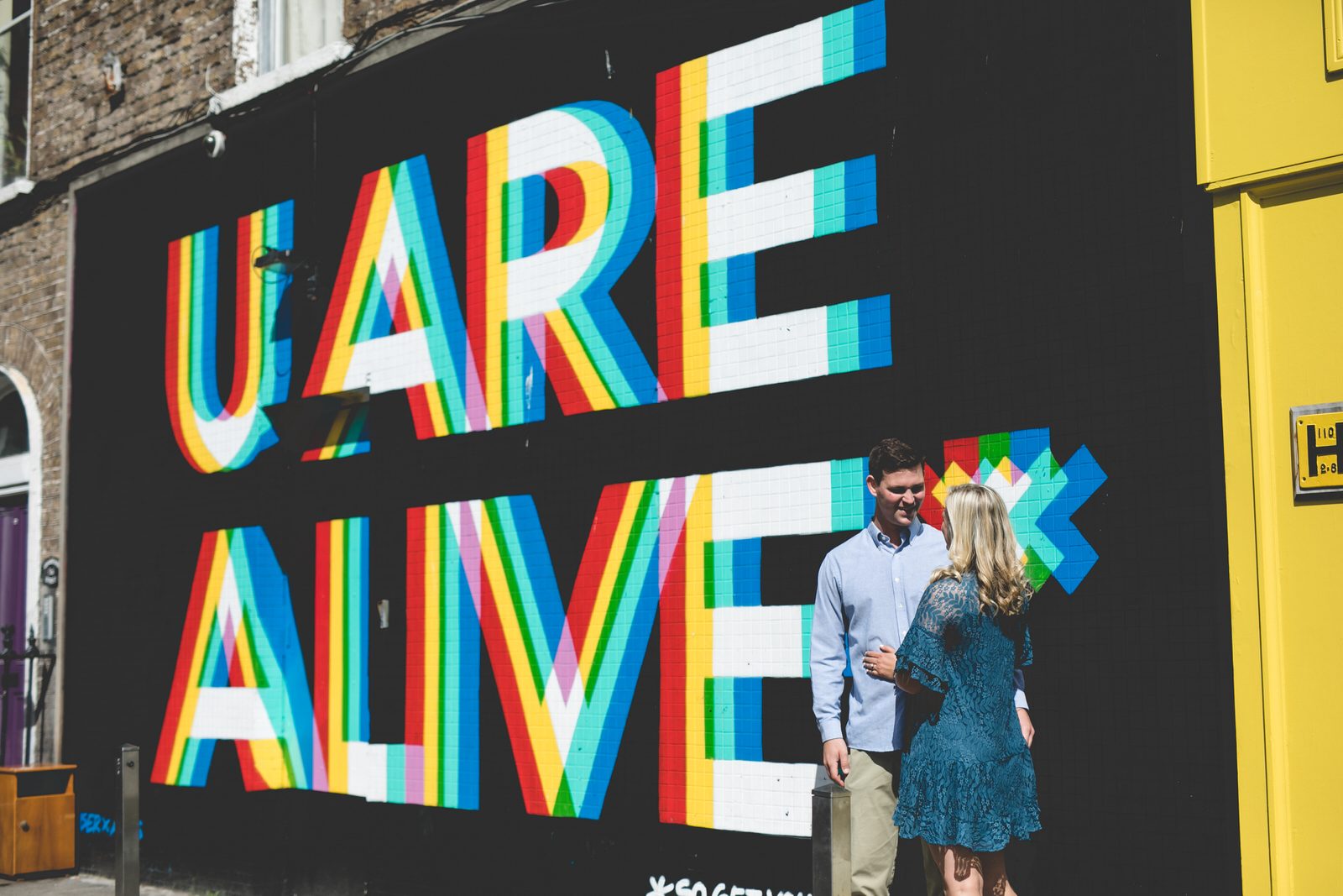 u are alive graffiti mural dublin