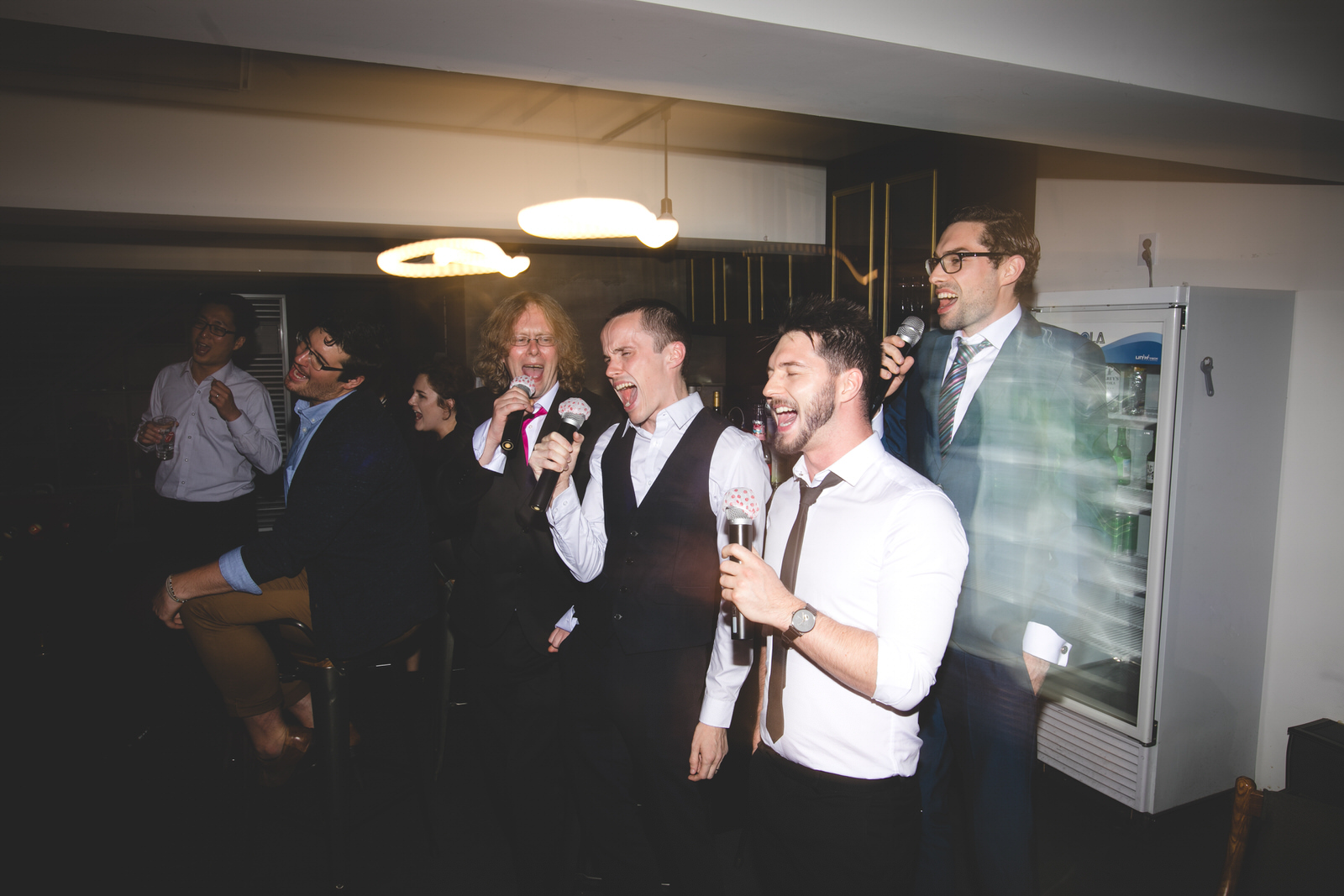 after hours karaoke party at Seoul wedding in south Korea