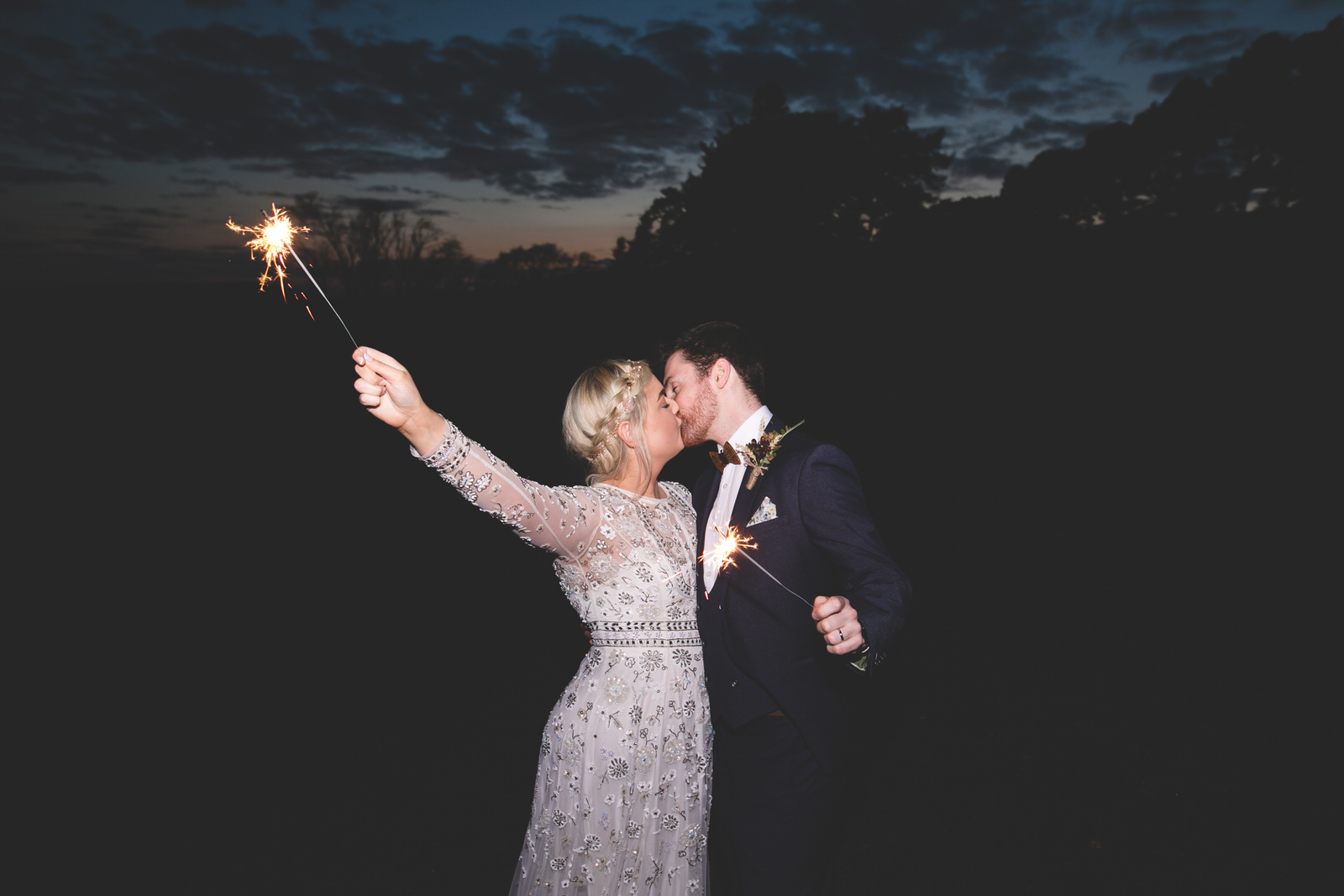 Wedding Sparkler shots at Kippure Estate wicklow
