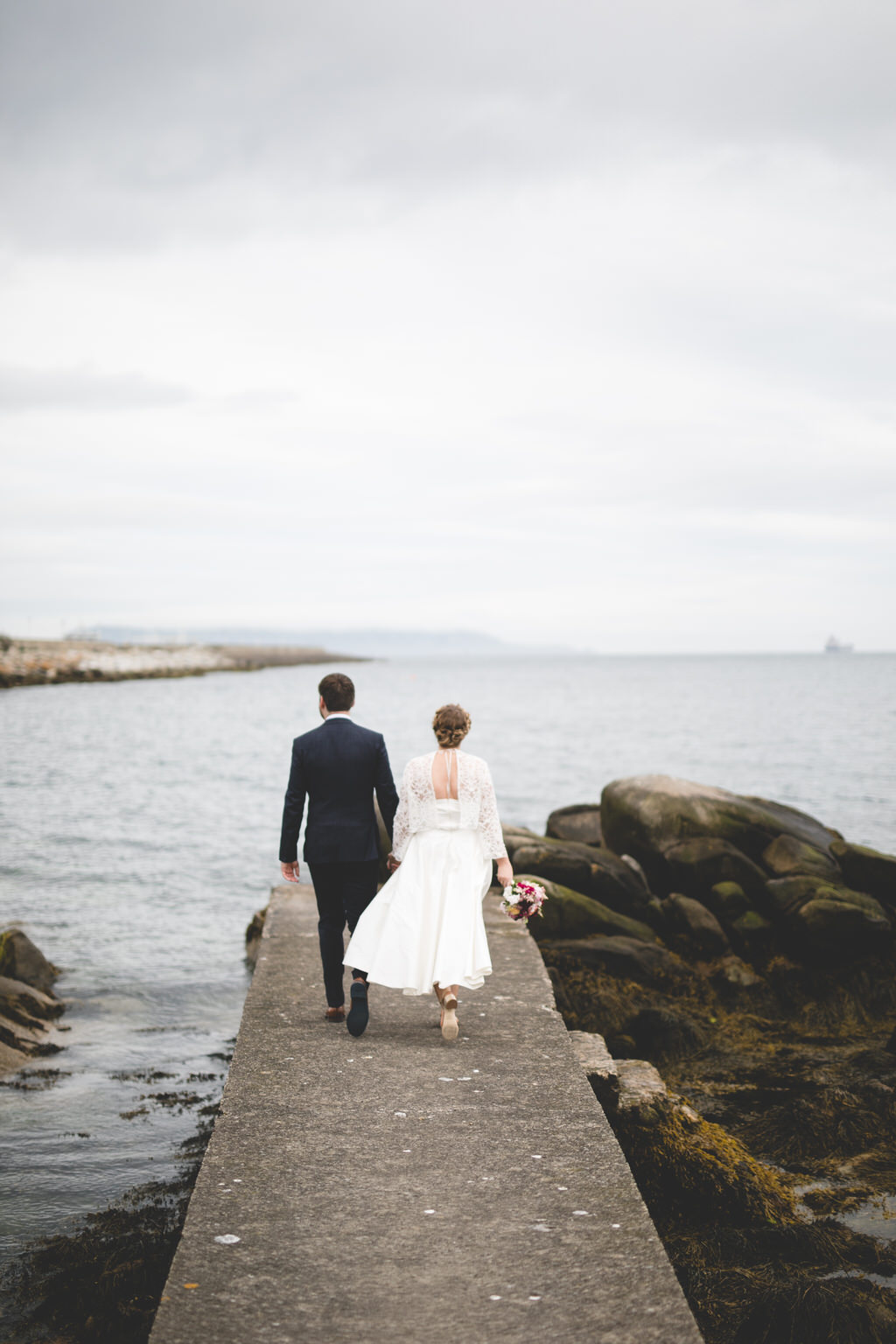 Summer seaside wedding portraits in Dublin