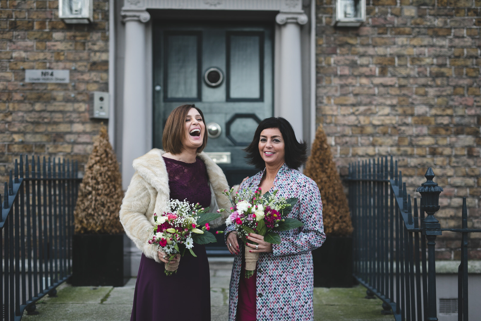 Portraits at wedding in House on Leeson St
