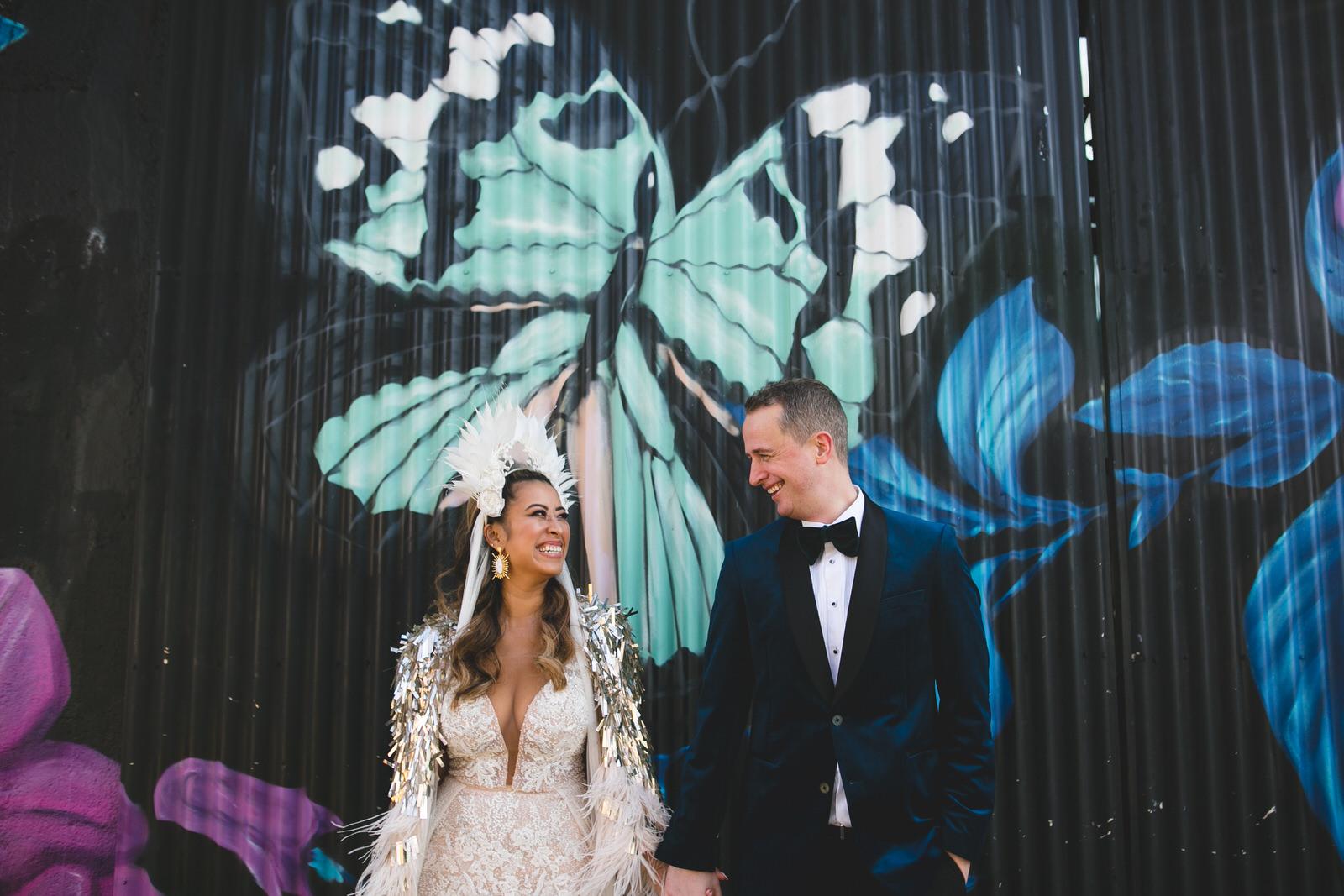 Stylish couple in Liberty Lane Dublin