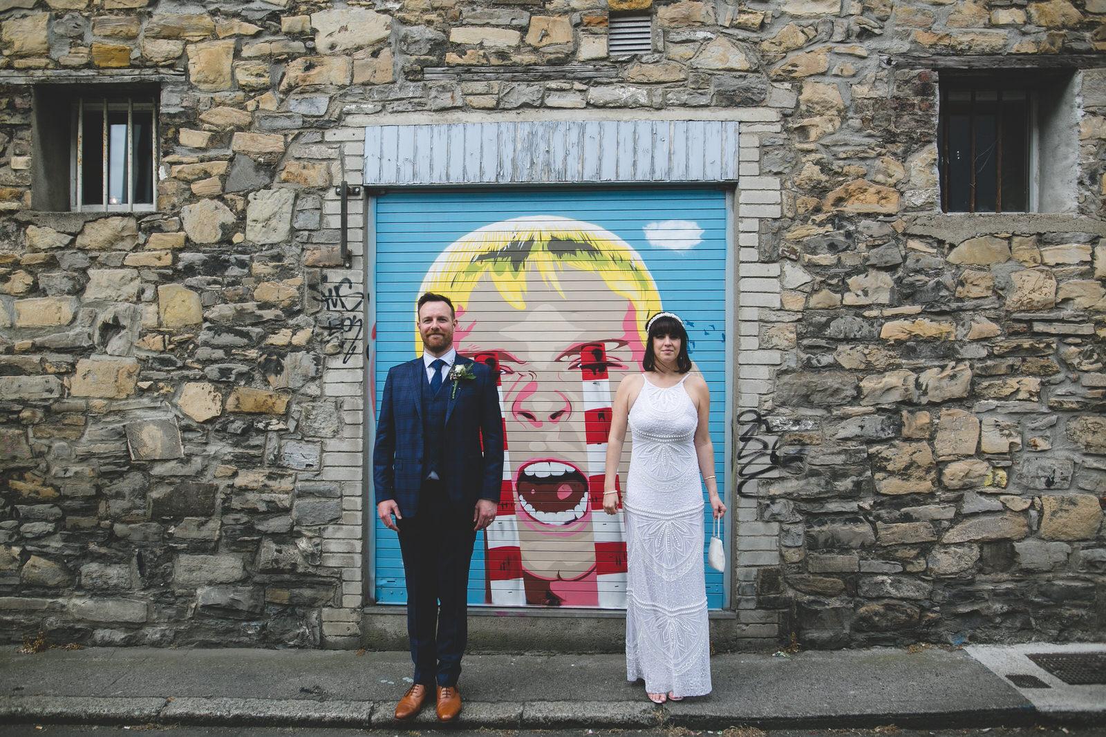 wedding photos with Graffiti at the Fumbally Lane