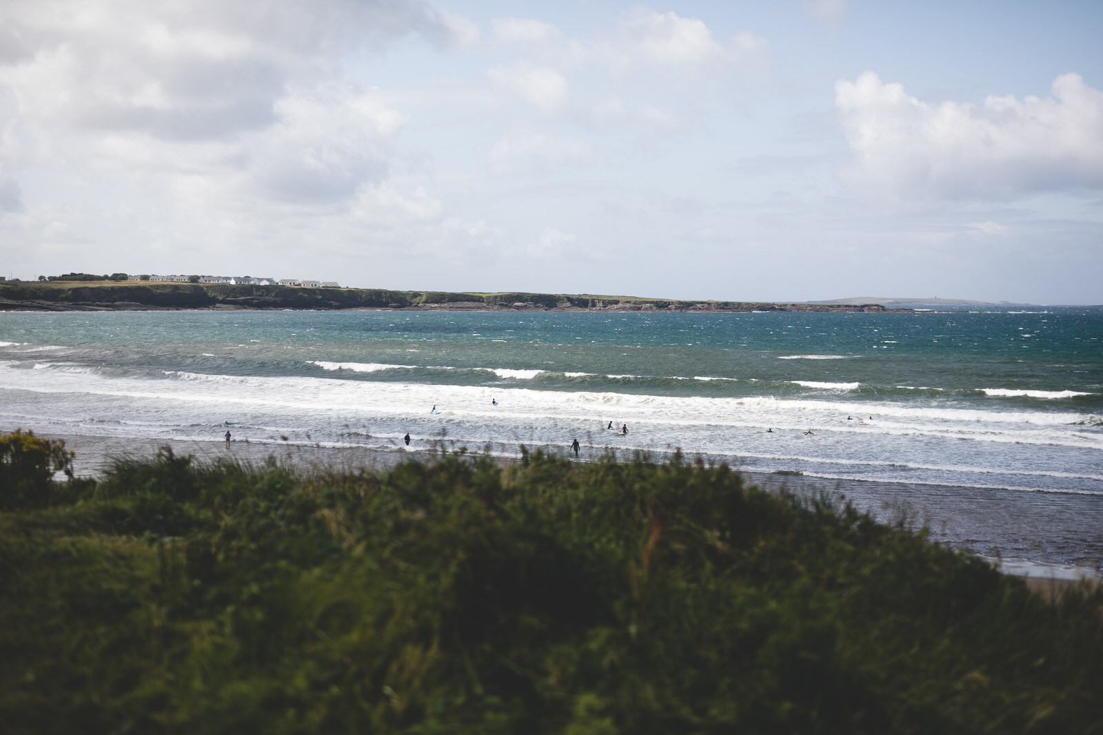 View of Spanish Point beach beside the Armada Hotel in Clare