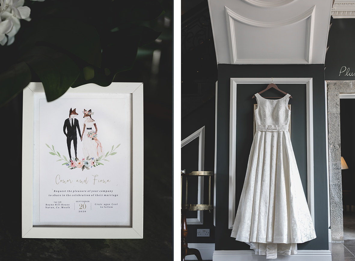 wedding details at Clonabreeny house in meath