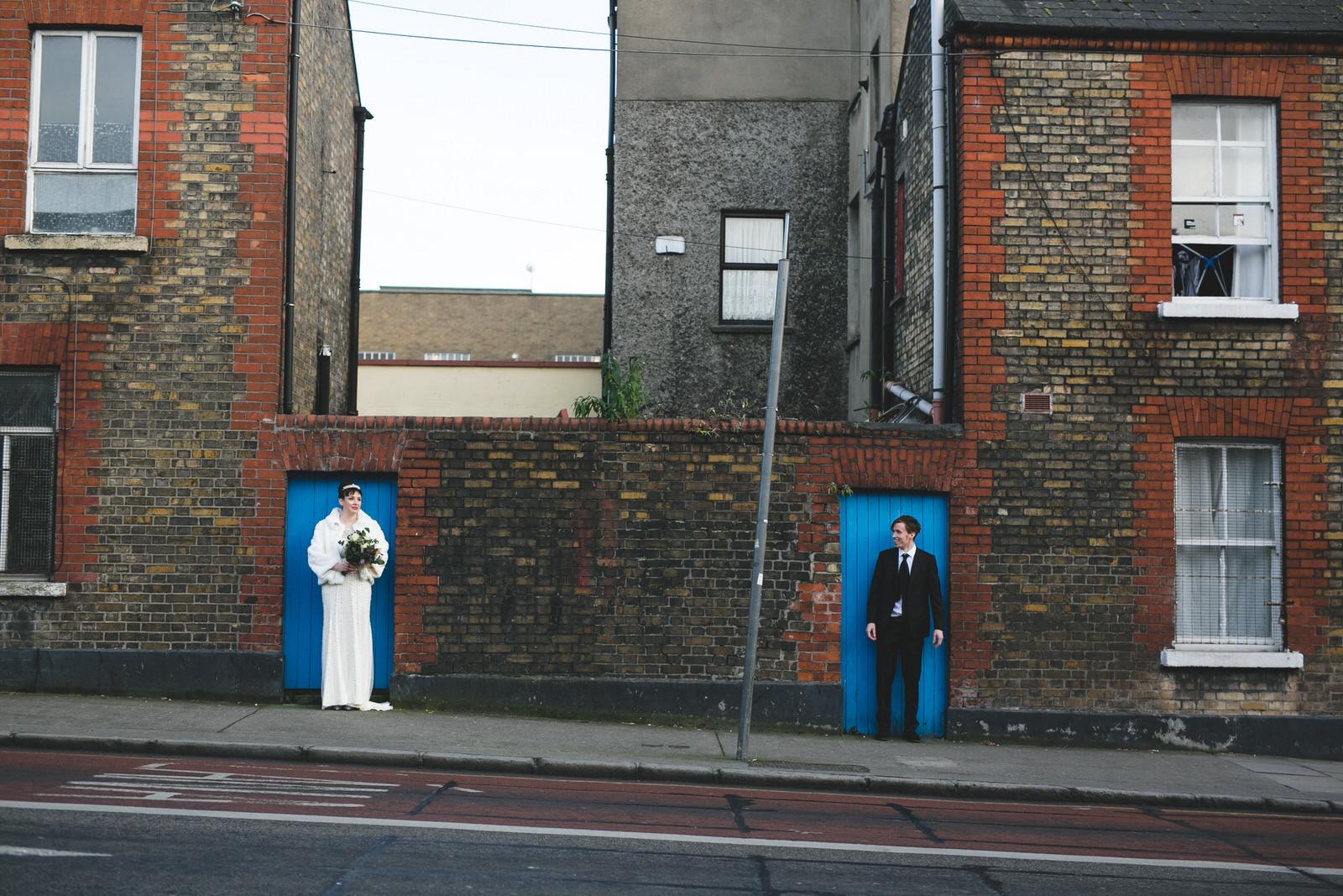 wedding photos around Smithfield area after ceremony in Blackhall Law Society