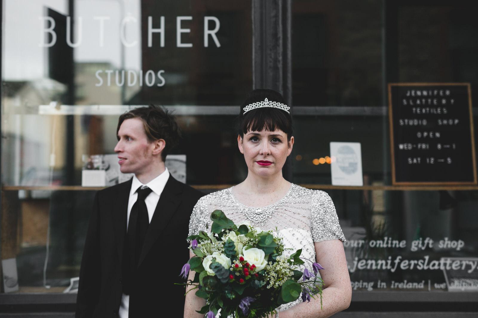 wedding photos at Benburb Steet