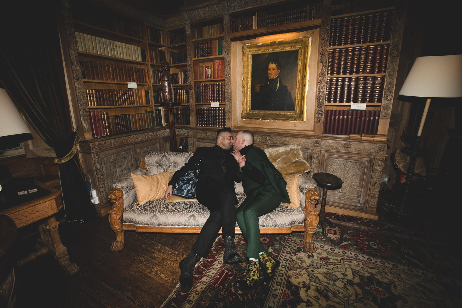 Kisses at Lisnavagh House