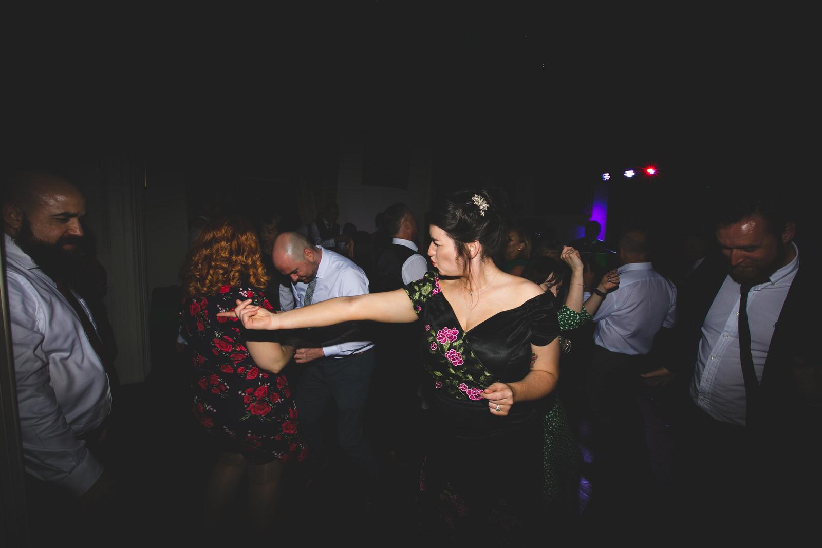 funny wedding dance floor shots