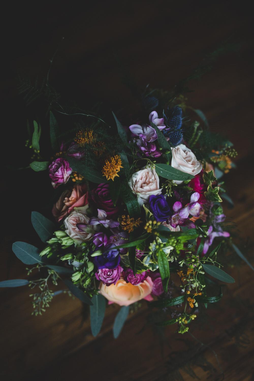 Wild, dark bouquet