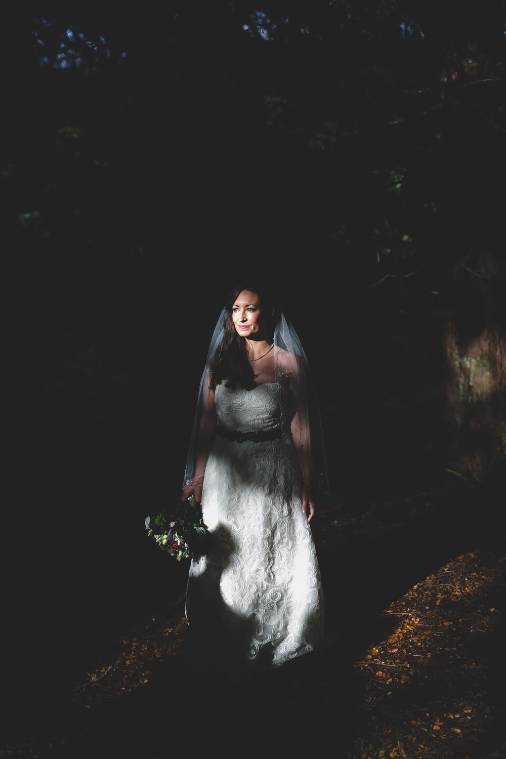 bridal portrait at Kippure Estate in the Wicklow Mountains