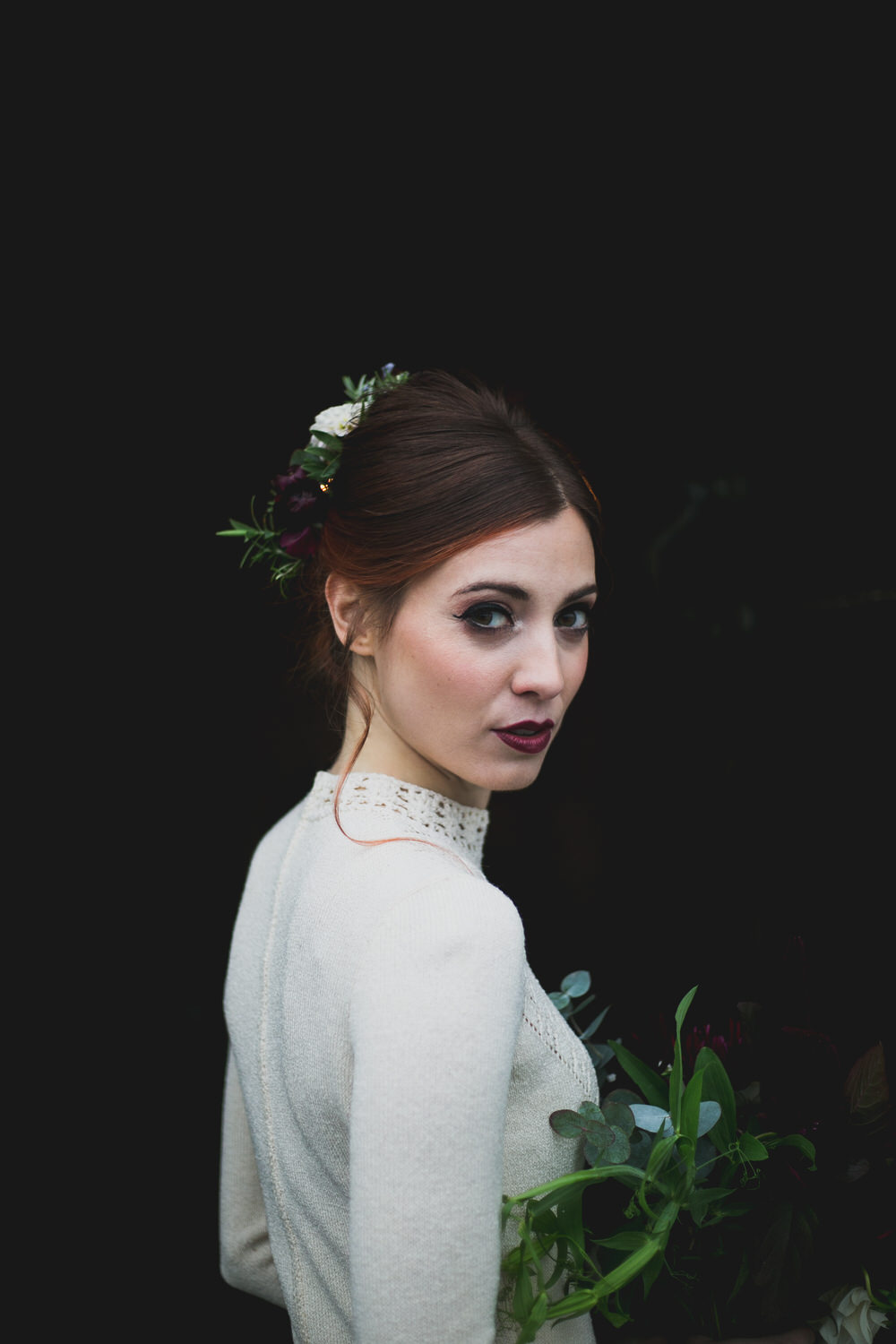 Bridal portrait at a styled shoot in Killyon Manor